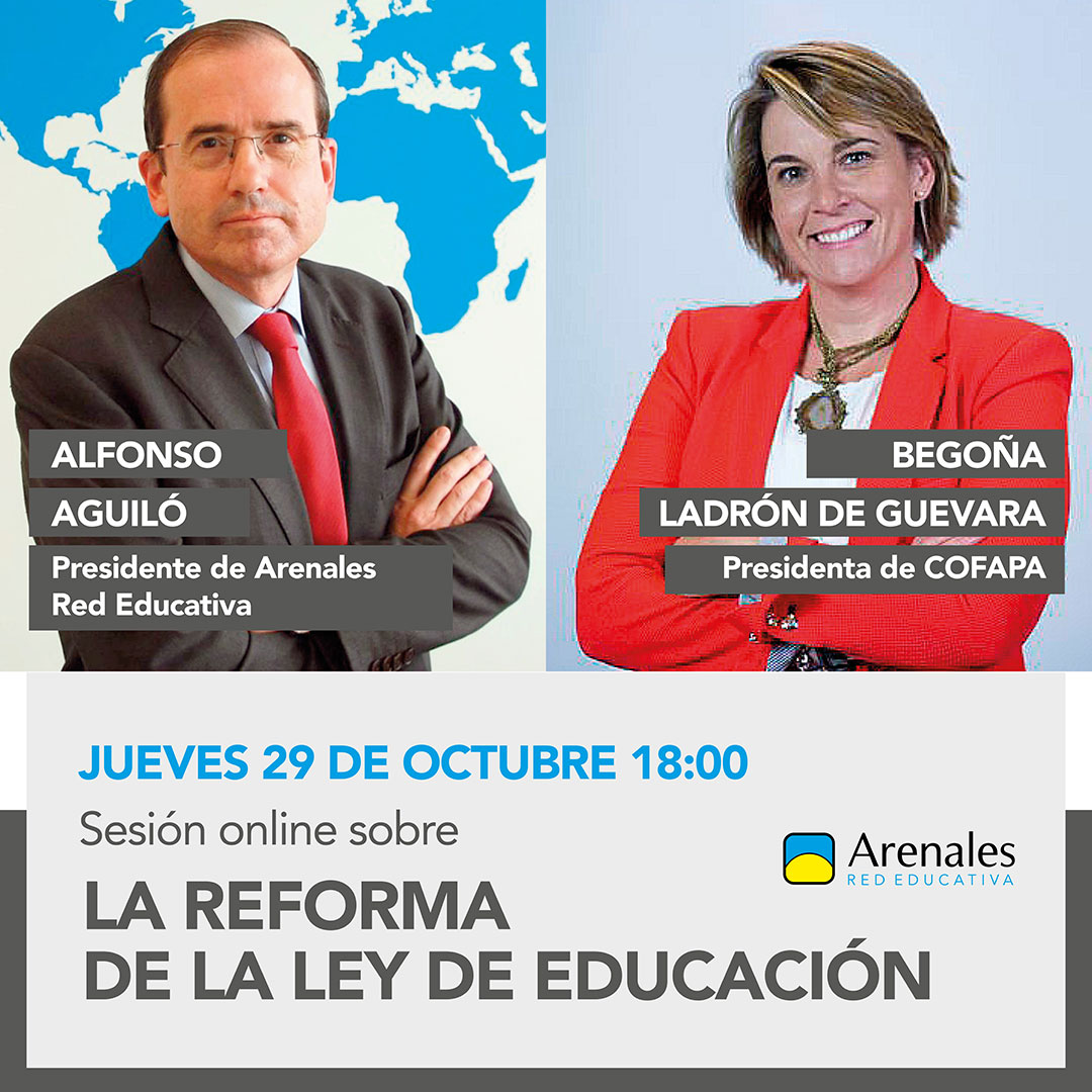 Sesión formativa online de Alfonso Aguiló sobre la Ley Celaá