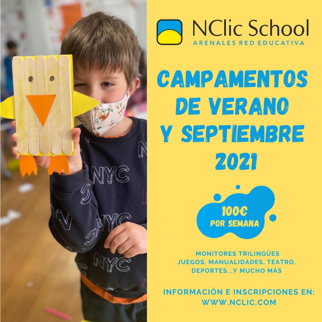 Campamentos de verano y septiembre 2021